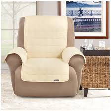 Sure Fit Wing Chair Recliner Slipcover by Sure Fit Waterproof Quilted Suede Wing Chair Recliner Pet Cover