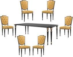 casa padrino luxus barock esszimmer set gold schwarz antik gold 1 esszimmertisch 6 esszimmerstühle mit hochwertigem leder barock