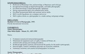 Photographer Resume Sample Freelance Samples