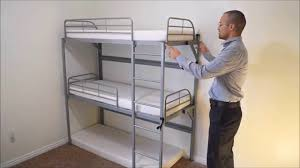 tribunk a collapsible triple bunkbed for kids youtube