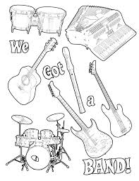Best Music Coloring Pages Cool Inspiration Graphic For Kindergarten