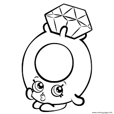 Print Roxy Ring With Diamond Shopkins Season 3 Coloring Pages In Page