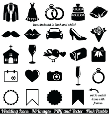 Clipart For Commercial Use Wedding Icons Clip Art Vintage Invitation Vectors