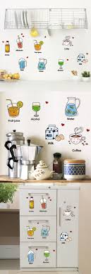 2016 New Refrigerator Kitchen Restaurant Wall Stickers Nursery Recognize Creative Cute Fridge Sticker Home Decoration WallPaper