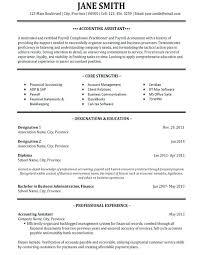 Resume Samples For Accounting Template Best Templates Images On