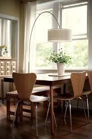 An Arc Lamp Illuminates The Dining Table