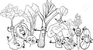 Cozy Ideas Vegetable Coloring Pages Free Of Gardens