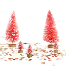 Small Pink Christmas Trees By Peach Blossom Notonthehighstreet