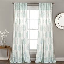 Lush Decor Window Curtains by Teardrop Leaf Room Darkening Window Curtain Set 52x84 Lush Décor