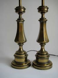 Stiffel Lamp Shades Glass by Pair Of Solid Brass Stiffel Lamps For Sale At 1stdibs
