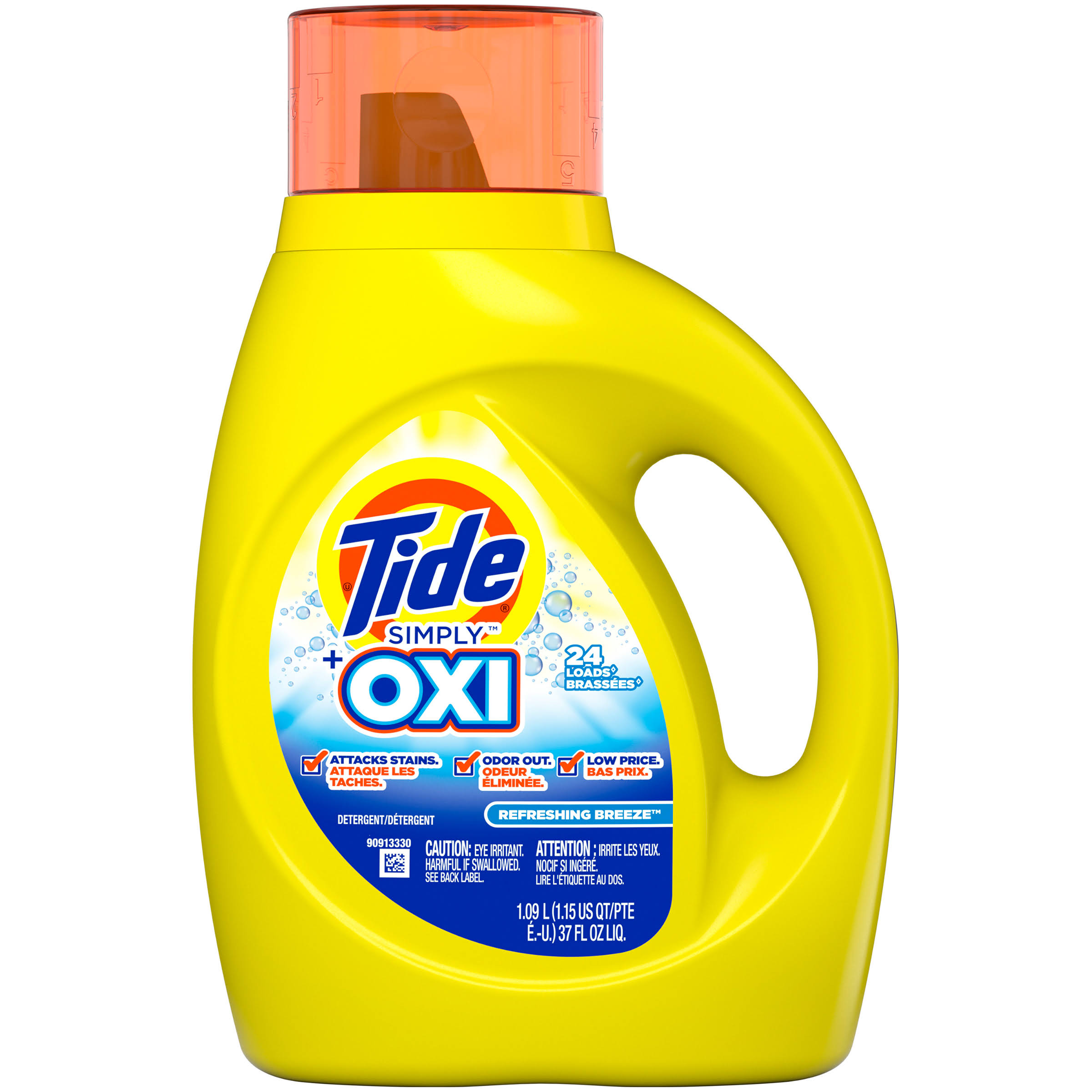 Tide Simply Plus Oxi Liquid Laundry Detergent - 37oz