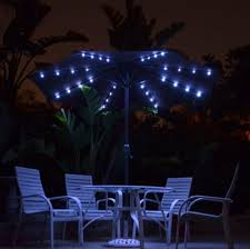 solar powered lighted patio umbrellas homprotek comquality patio
