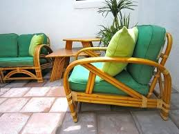 Vintage Rattan Furniture By Chair Couch For Sale
