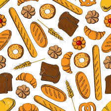 Bakery Clipart French Croissant Products Seamless Pattern With