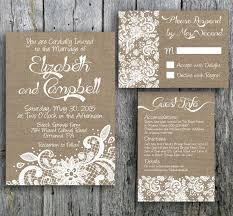 DIY Wedding Invitation Set Includes Invite Rsvp And Guest Info Card Perfect For A Rustic