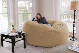 This Giant 8-Foot Beanbag Chair On Amazon Is Called A ... Giant Bean Bag Huge Chair Extra Large 3 Ft Beige Shag Fur Doublestitched 4 Foot Oversized Foam Filled Chill Sack 6 Memory Fniture Big Sofa With Soft Micro Fiber Cover Tan Pebble Noble House Tannery Faux 18280 The Home In Black Wn Design Beanbag Round Kids Living Pty Ltd Stone Bean Bags Chantalrussocom Ultimate Faq Answering The Top 20 Questions About Na Teardrop Without Beans Price