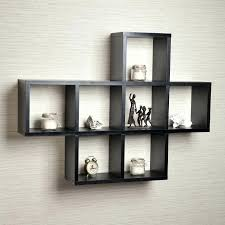 Wall Mounted Display Shelves Collectibles Hung Unit Trophy Glass Cabinet