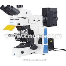 trinocular infinity optical fluorescence microscope with halogen l