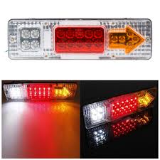 1 Pair 12V Led Truck Tail Light Rear Lights Trailer Turn Signal ... Amazoncom Driver And Passenger Taillights Tail Lamps Replacement Home Custom Smoked Lights Southern Cali Shipping Worldwide I Hear Adding Corvette Tail Lights To Your Trucks Bumper Adds 75hp 2pcs 12v Waterproof 20leds Trailer Truck Led Light Lamp Car Forti Usa 36 Leds Van Indicator Reverse Round 4 Braketurntail 3 Panel Jim Carter Parts Brake Led Styling Red 2x Rear 5 Functions Ultra Thin Design For Rear Tail Lights Lamp Truck Trailer Camper Horsebox Caravan Volvo Semi Best Resource