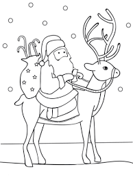 Click To See Printable Version Of Santa Riding Reindeer Coloring Page