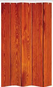 abakuhaus duschvorhang badezimmer deko set aus stoff mit haken breite 120 cm höhe 180 cm rustikal holz holzboden orange kaufen otto
