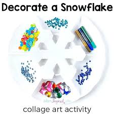 Winter Art Crafts For Preschoolers Craft Activity Kids Decorate A Snowflake Collage