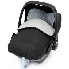 maxi cosi pebble modern black universal car seat footmuff to fit maxi cosi grey black grey