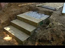 how to build steps with landscape timbers this old house youtube
