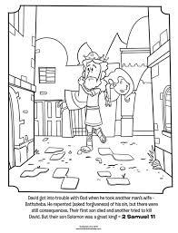 David And Bathsheba Coloring Page