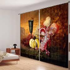 verdunkelungsstoff malerei in wasser farben 3d fenster vorhänge vorhänge für wohnzimmer schlafzimmer hotel dekorative wandteppich