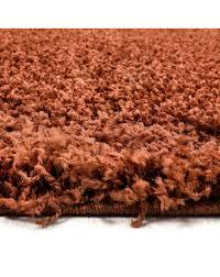 hochflor langflor wohnzimmer shaggy teppich florhöhe 3cm unifarbe terra