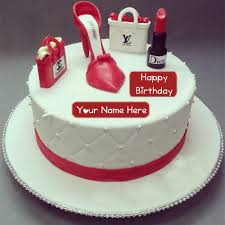 Birthday Cake Girlfriend Name Wishes
