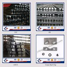 Hot Rolled Din 536 A75 Steel Rail Prices Type Light Rail For