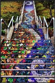 16th st tiled staircase san francisco california san