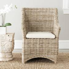 Large Size Of Dining Room Glamorous Rattan Chairs Brown Wicker Material Solid Wood Frame
