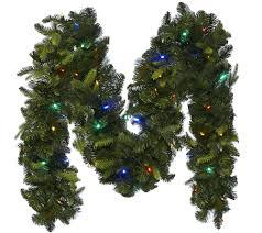 Qvc Christmas Tree Recall by Bethlehem Lights 9 U0027 Mixed Greens Prelit Holiday Garland Page 1