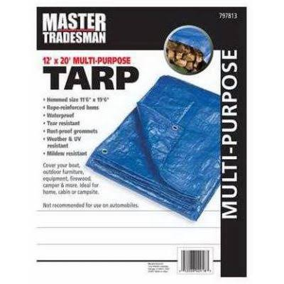 Master Tradesman Multi-Purpose Tarp Cover - Blue