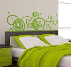 schlafzimmer wandtattoo abstraktes muster