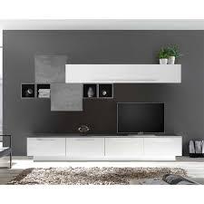 moderne wohnzimmer anbauwand als set bienta 9 teilig