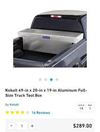 100 Kobalt Truck Tool Box Best New Fullsize For Sale In Murrieta