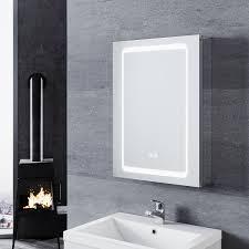 sonni led spiegelschrank für das badezimmer aluminium