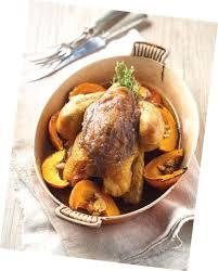 cuisine chataigne recette poulet rôti à la confiture de châtaigne et poire