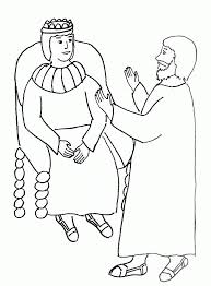 Bible Story Coloring Page For Paul And King Agrippa