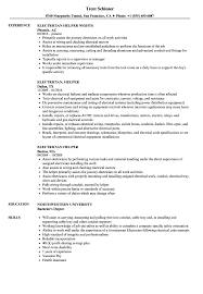 Download Electrician Helper Resume Sample As Image File