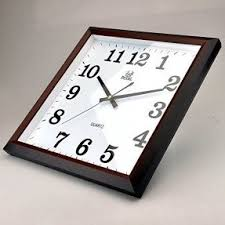Sinceda Modern Non Ticking Silent Quartz Analog Digital Square Wall Clock
