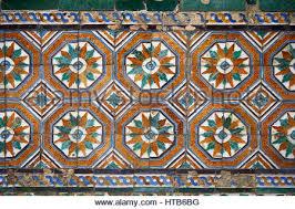 16th century mudjar tiles from the pavillion of carlos v