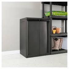 Sterilite 4 Drawer Cabinet Platinum by Sterilite 2 Shelf Garage Or Utility Storage Cabinet Flat Gray