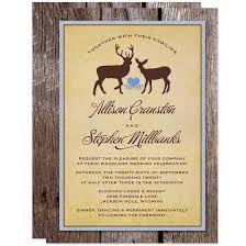 Rustic Deer Wood Wedding Invitations