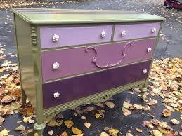 Pink Chevron Dresser Knobs by Sophisticated Junk Pile Army Green Dresser With Purple Ombre