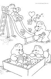 Care Bear Color Page Get This For Your Bears Coloring Book